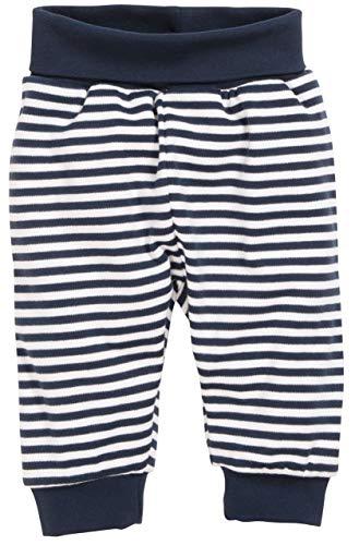 Schnizler Unisex Baby Jogginghose Babyhose Maritim mit Umschlagbund, Blau (Marine/Weiß 171), 86 -