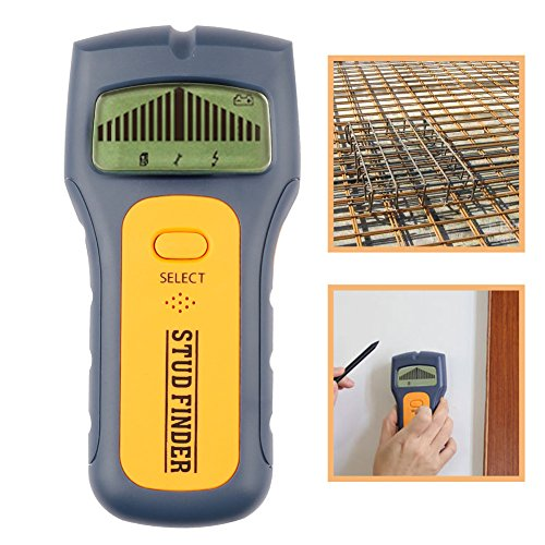 Cutogain 3in 1Metalldetektoren Holz Ohrstecker Finden AC Spannung Live Wire erkennen Wand Scanner Elektrische Box Finder mit LCD-Display