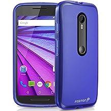 Motorola Moto G (3ª generación) 2015 funda - Fosmon [DURA-FRO] (Slim Fit) flexible TPU Cubierta de Carcasa de para Motorola Moto G (3rd Gen, 2015) - Fosmon Empaquetado (Azul)