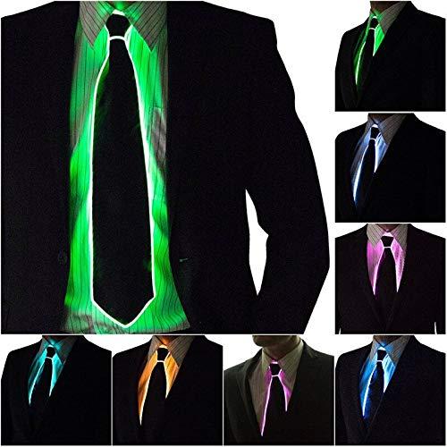 Super EL Draht Krawatte Blinkende Cosplay LED Krawatte Kostüm Anonym Krawatte Glowing Dance Karneval Party Masken Kühlen Activing Requisiten 19 zoll lang 1pcs Zufällige Farbe