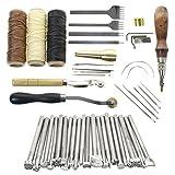 katurn Leder Craft Punch Werkzeug-Set Leder Druck manuelle Leder Craft Carving Hand nähen Lederarbeiten Supplies Zubehör