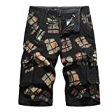 ODRD Herren Tactical Pants Workout JeansHerren Neue Sommer Camouflage Multi-Pocket Overalls Mode lässig Shorts Hosen Hose Jogging Pants Jogginghose Sweatpants Sport