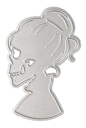 lloween Hexe Seite Gesicht Album-Papier-Karten-Dekoration DIY Scrapbooking Schneide Schablone (Hexe-gesicht Halloween-schablone)