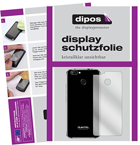 dipos I 6X Schutzfolie klar passend für Oukitel U22 Rückseite Folie Bildschirmschutzfolie