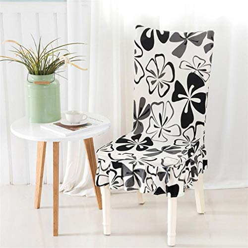 Yiqinyuan Stuhlabdeckung Spandex Elastic Stuhl Fall Rock Schutzhülle Abnehmbare Anti-Schmutzige Küche Stretch Stuhlabdeckung Für Bankette K universal -