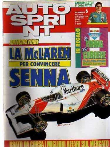 Autosprint Auto Sprint 6 Febbraio 1993 Zanardi, Senna Inserto In forma