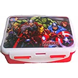 Ski Plastic Disney Lock And Seal Airtight Marvel Avengers Cartoon Character Printed Lunch Tiffin Box For School Children Kids,students, Office Medium Multicoloured