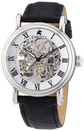 Carucci Watches CA2203BK - Orologio da polso uomo, pelle, colore: nero