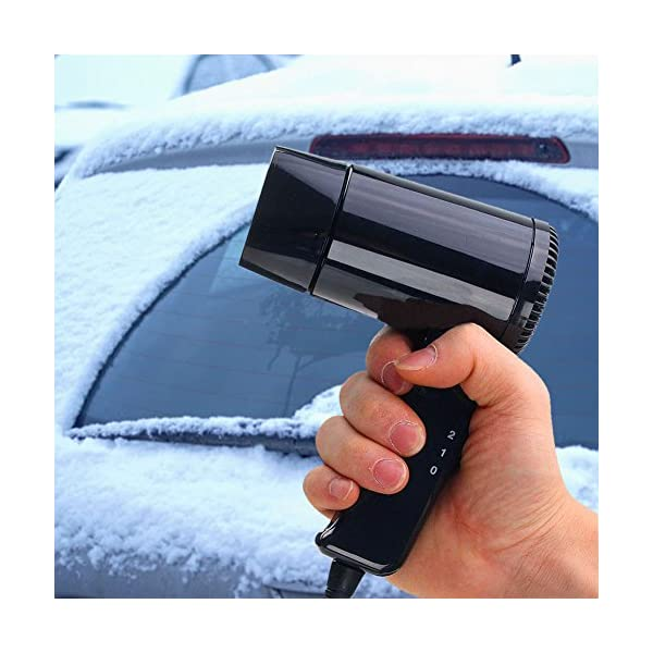 Starmood 12V Hot & Cold Travel Car Folding Camping Hair Dryer Window Defroster 7