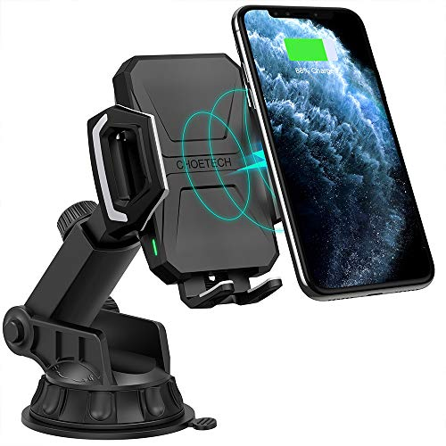 CHOETECH 2 in 1 Caricatore Wireless Veloce Auto, 10W per Galaxy S10/ S10+/ S9/ S9 +/ S8/ S8 +/ Note 8/ Note 9/ S7/ S7 Edge, 7.5W Ricarica Wireless Auto per iPhone XS/ XS Max/ XR/ X/ 8/ 8 Plus
