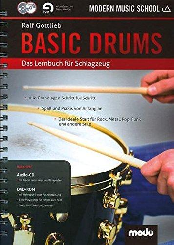 Basic Drums: Das Lernbuch für Schlagzeug. Schlagzeug. Ausgabe mit Online-Audiodatei.