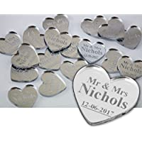 Personalised Wedding Confetti Hearts Gift for Mr & Mrs Table Decoration Wedding Favours Table Confetti