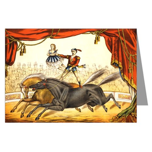 Circo-Poster di attore A cavallo, sotto il