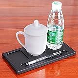 Büro Leder Konferenz Tasse Flaschenhalter Desktop Ort Coaster mit Stifthalter (schwarz 12)