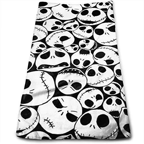 DAICHAI Black Christmas Skull 100{aab30db66567834f239d90b398c05ff042228d2438a4596755e20e7c46b85523} Cotton Towels Ultra Soft & Absorbent Bathroom Towels - Great Shower Towels, Hotel Towels & Gym Towels
