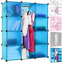 TecTake Estantería Armario Organizador Aparador por Módulos para Oficina Habitación infantil Salón Baño - disponible en diferentes colores - (azul | no. 400922)