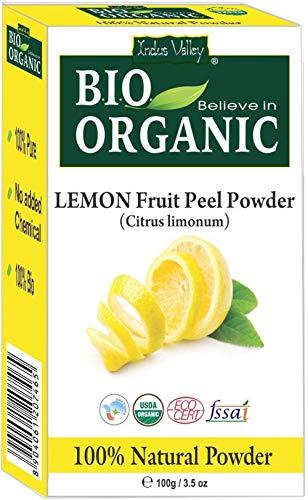 polvere di buccia di frutta al limone biologica certificata con libro di ricette gratuito da 100g (lemon fruit peel powder)