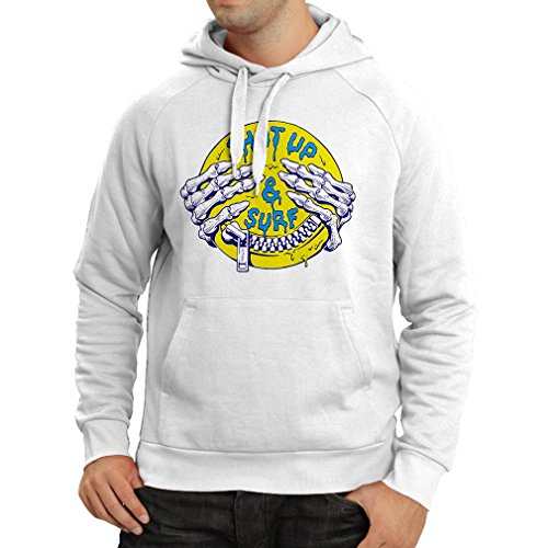 Hoodie Surf Clothing Shut up and Surf - Art Wear, Surfer Clothes Surfing Humor Quotes