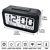 Jeval Digital LCD Clock Large Display Clock Travel Alarm Clock with Snooze Function