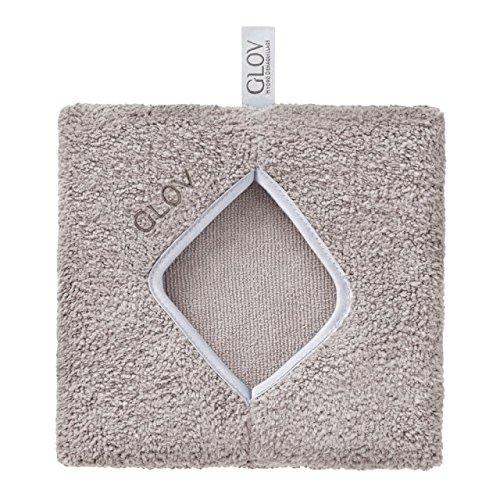 GLOV CONFORT - Gris - Démaquillant microfibre pour le visage et les yeux - Enlève le maquillage naturel et facile, le nettoyage du visage sans produits chimiques et lingettes - Enlever le maquillage