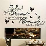 ufengke Pegatinas De Pared Heaven in Our Home Vinilos Adhesivos Pared Frase para Dormitorio Salón Oficina Habitación