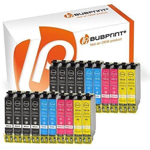 Bubprint 20 Druckerpatronen kompatibel für Epson T1811-T1814 18XL für Expression Home XP-100 XP-102 XP-200 XP-205 XP-225 XP-302 XP-305 XP-402 XP-405