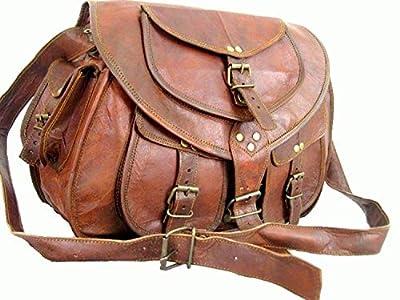 """33""""Sac à main en cuir Satchel Tablet Sac à main rétro rustique vintage femmes sac"""