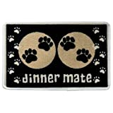 Pet Republic Dinner Mate Food Mat, 40 x 60 cm, Black