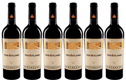 Flame Vine (6er Weinpaket Budureasca The Vine in Flames Merlot 2013 (6x 0.75l))