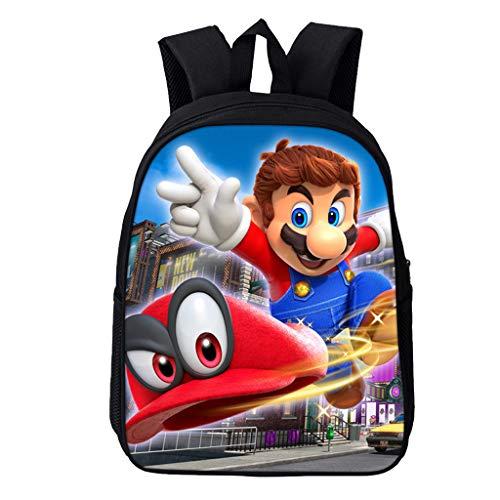 Wadaland Super Mario Rucksack für Kinder,Anime Cartoon Muster Grundschule Rucksack Mädchen Junge,Karikatur Drucken Schultasche Rucksäcke Daypacks Verschleißfest Tasche Backpack Sale (9) (Kind Anime Mädchen)