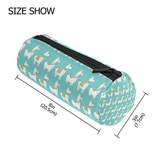 (tizorax Lama Federmäppchen Pen Tasche mit Reißverschluss Münze Organizer Make-up costmetic Tasche für Frauen Mädchen Jungen Teenager Kinder)