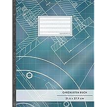 """Checklisten-Buch: DIN A4 • 70+ Seiten, Soft Cover, Register, """"Architekt"""" • #GoodMemos • 18 Checkboxen + Platz für Notizen/Seite (inkl. Register mit Datum uvm.)"""