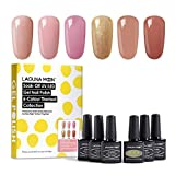 Lagunamoon Smalto in Gel UV LED, 6pcs Smalto Semipermanente per Unghie Set per Manicure - Barefoot In Paris
