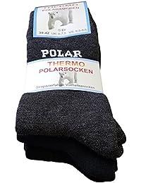 3 oder 6 Paar THERMO-POLAR Socken, Vollfrottee Arktis Socken Dick und Warm
