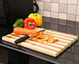 #6: Kurtzy Organic Bamboo Chopping Cutting Wooden Board Extra Large Thick Butcher Block for Bread Meat And Cheese