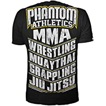 "Phantom Athletics T-Shirt ""MMA SPORTS"" - Schwarz/Gelb"