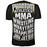 "Phantom Athletics T-Shirt ""MMA SPORTS"" - Black/Yellow-Large"