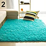 Xuendao Living Room Bedroom Home Anti-Skid Soft Shaggy Fluffy Area Rug Carpet Floor Mat Rectangular Coffee Table Sofa...