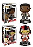 Funko POP! Star Wars: Episode VII - Finn & Poe Vinyl Bobble-Heads 2 Pack NEW