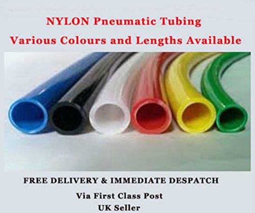 8 mm x 6 mm 30 m - Color Natural - Tubo de plástico flexible de nailon comprimido aerolíneas robótica manguera de aire métrico PentECHMOULDING CO LTD