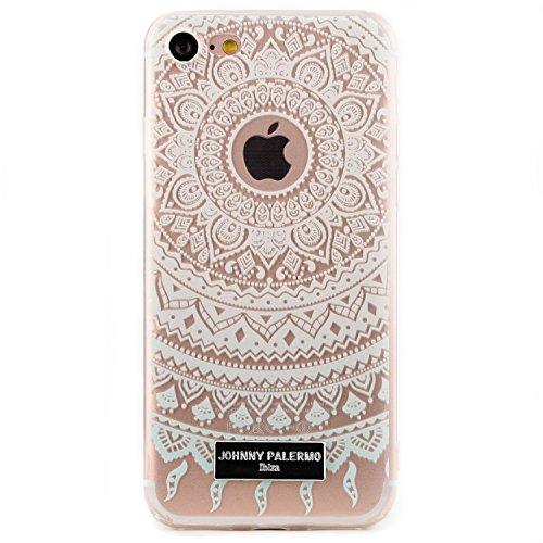 Arktis iPhone 8 / 7 Mandala Dreamcatcher Traumfänger Case Silikon Tpu Hülle Cover SoftCase - Pink delight White Sensation