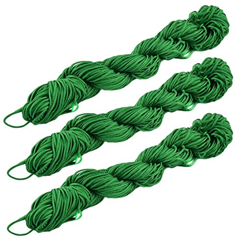 sourcingmap® Polyester Nœud Chinois Festival DIY Bracelet Corde Cordon Rattail 31 yards 3pcs