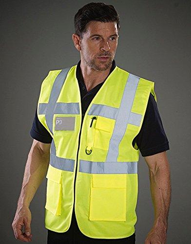 Hi-Vis Sicherheitsweste, Farbe:Hi Vis Yellow;Größe:S