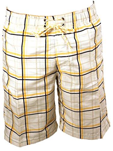 austar-badehose-badeshorts-kariert-herren-shorts-sommer-m-bis-xxxl-grosse-xl-farbe-weiss-gelb