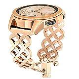 TRUMiRR Armband für Samsung Galaxy Watch 42mm Frauen, Schmuck Armreif Uhrenarmband Bling Höhle Edelstahl Armband für Samsung Galaxy Watch 42mm, Garmin Vivomove HR