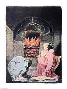 William Blake – L'Europe une prophétie ; Famine 1794 Impression d'art Print (45,72 x 60,96 cm)