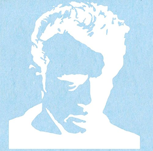 "Preisvergleich Produktbild JAMES DEAN Close Up White, Officially Licensed Artwork, NonToxic Exceptional Quality 6"" x 6.75"" Rub On Sticker Aufkleber"