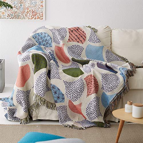MMHJS Weiche Und Warme Schlafdecke Multifunktionale Decke Mit Ginkgoblattmuster Warme Und Bequeme Deko-Schlafdecke