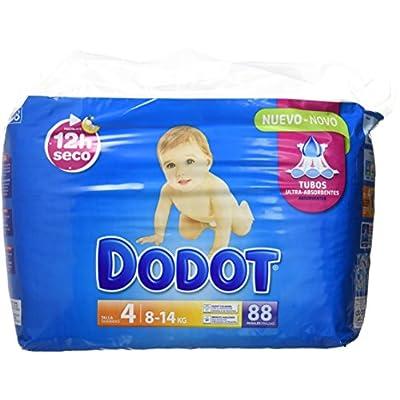 Dodot Bebé-Seco Pañales Con Canales de Aire, Talla 4, 88 Pañales