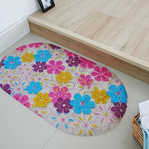 FQG*Bad Rutschfeste mate e Latrinen inodore toletta vasca da bagno doccia o vasca pad Sog stuoie , piedi circa 39*69cm, 7 colori di fiori